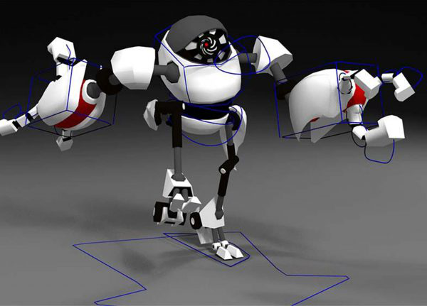 Henry Gorick - Image of a white and red robot walking