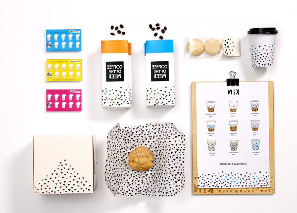 Laura Carmona - Image of designed packaging laid out on a table