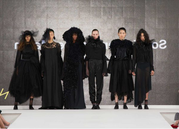 Sophia Lemondine-Martin - Image of a black collection of dresses at Graduate Fashion Week