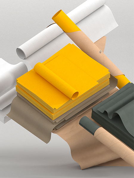 Robin Barnes and Mark Ng - Image of yellow, white and grey paper