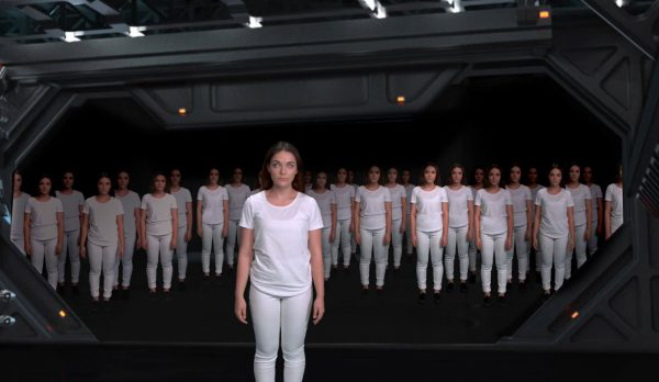 Pheya Tribelsky - 澳彩网彩票 Student work by BA VFX student Pheya Tribelsky showing women in matching white outfits standing together
