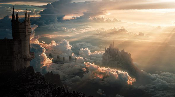 Stephanie Woodward - BA VFX student work by Stephanie Woodward showcasing clouds and a castle